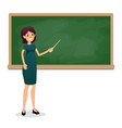 cartoon flat women with pointer in the classroom vector image