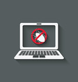 computer bug warning symbol vector image