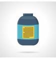 Creatine jar flat color icon vector image