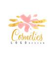delicate logo design for cosmetics shop or vector image