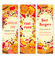 Fast food restaurant banner for menu flyer design vector image