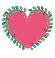 floral decoration with heart shape vector image
