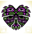 Indian pattern in the shape of heart vector image