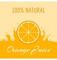 Natural orange juice label teplate vector image
