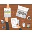 Office workplace Businessman meeting vector image