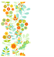 Seamless floral border background vector image