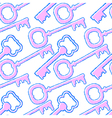 Seamless pattern with abstract keys vector image