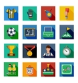 Soccer Flat Squared Icon Set vector image
