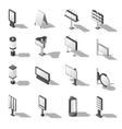 Street Advertising Isometric Icons Set vector image