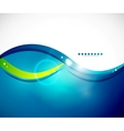 Detailed blue wavy abstract background vector image vector image