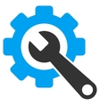 Gear And Wrench Flat Icon vector image