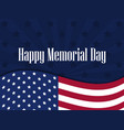 happy memorial day american flag with the text vector image