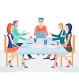 conference business people with set vector image