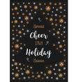 Christmas Holiday Cheer card Xmas flyer Greeting vector image