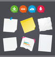 download now signs upload from cloud icon vector image