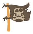jolly roger icon cartoon style vector image