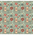 seamless viking pattern 01 vector image
