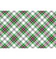 Green white pink diagonal tartan plaid seamless vector image