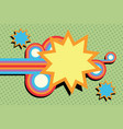 pop art swirls abstract vector image