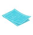 isometric blueprints vector image