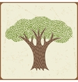 Abstract background with stylized tree in retro vector image vector image