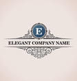 Luxury logo Calligraphic pattern elegant decor vector image vector image