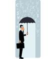 British businessman under umbrella vector image