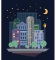 Urban Landscape in Flat Design vector image