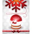 Christmas with magic snow globe vector image