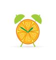 orange fruit clock color vector image