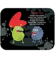 Cute monsters with heart and love vector image