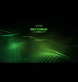 green technology background green energy vector image