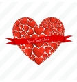 Greeting Card of Red Hearts vector image