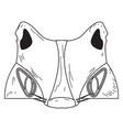 halloween werewolf mask vector image