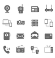 Icon set - communication devices vector image
