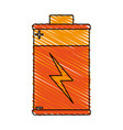 isolated battery icon image vector image