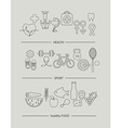 Modern thin line icons set of health lifestyle vector image