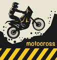 Motocross background vector image