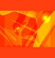 orange polygon backgrounds vector image