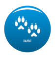rabbit step icon blue vector image