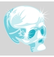 shining crystal skull in cartoon style vector image
