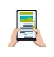 ebook smartphone internet web icon vector image