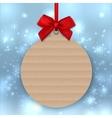 Christmas tree decoration Mockup tag sticker vector image