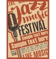 Poster for the jazz festival vector image vector image