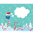 Christmass candy bird vector image vector image