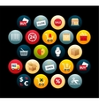 Flat icons set 20 vector image