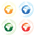 a set of four abstract worlds vector image vector image
