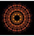 orange yellow sun mandala vector image