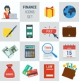 Accounting finance square 15 icons vector image
