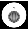 music disco ball black simple isolated icon eps10 vector image